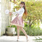 紀卡圖改良漢服女夏裝日常漢元素中國風古風學生班服短裙套裝 艾尚旗艦店