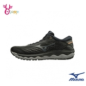 Mizuno慢跑鞋 男鞋 WAVE SKY 3 運動鞋 跑步鞋 路跑 馬拉松 美津濃 I9246#黑灰◆OSOME奧森鞋業