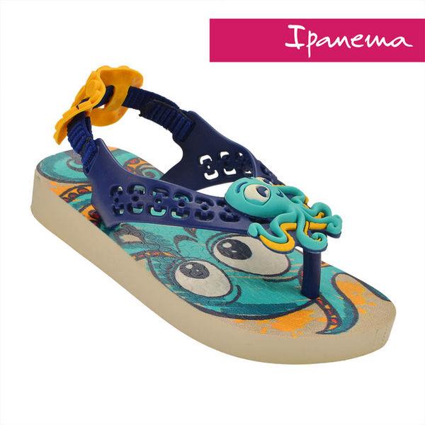 IPANEMA 寶寶 巴西原裝 立體動物造型涼拖鞋 柔軟 不打滑 IP2604723139(粉藍X章魚)[陽光樂活]