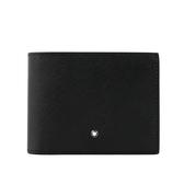 【MONT BLANC】匠心系列防刮牛皮 12卡短夾(黑色) 113209