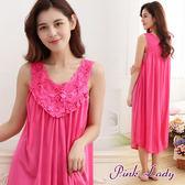 PinkLady法式宮廷氣質風珍珠絲睡裙289(玫紅)