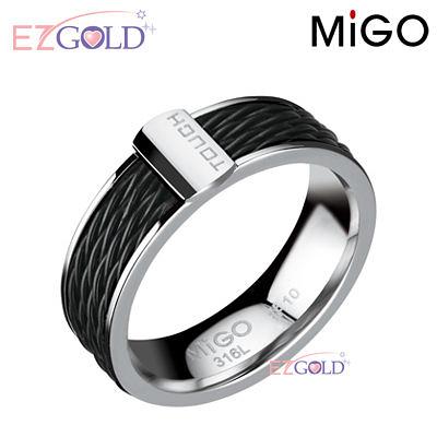 MiGO鋼飾♥TOUCH♥鋼飾戒指(女)