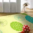 【范登伯格】奧瓦柔亮絲質感地毯-朵兒(橘)-70x120cm