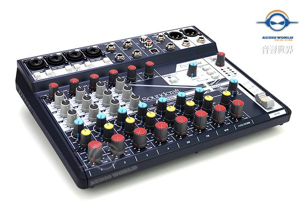 【音響世界】英國Soundcraft 新款Notepad系列12軌帶FX精巧型USB混音器》贈美製麥克風線》公司貨
