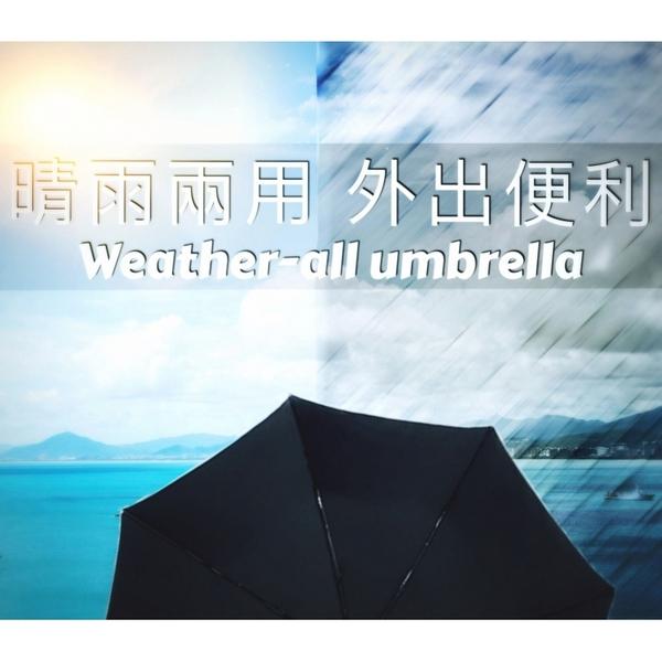 【限量-買一送一】40吋自動黑膠傘-遮光/遮雨_折疊傘 / 晴天雨天一把搞定-自動傘-晴雨傘
