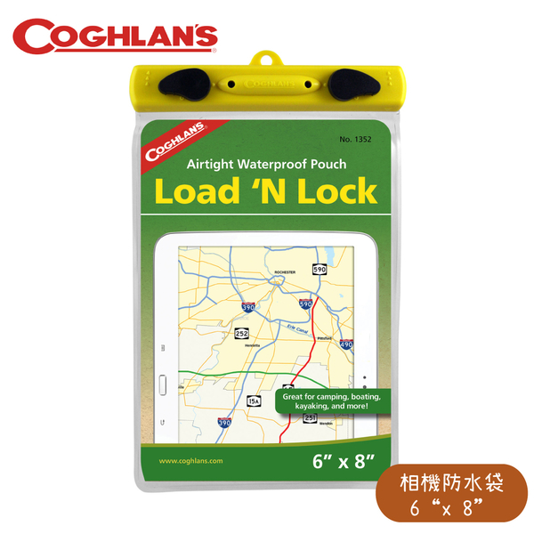 【COGHLANS 加拿大 Load N Lock 6吋 x 8吋 相機防水袋】1352/夾鍊式防水袋/可觸控