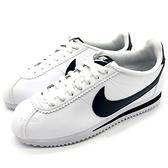 《7+1童鞋》大人款 NIKE WMNS Classic Cortez Leather 阿甘 白鞋 黑勾 綁帶 慢跑鞋 G841 黑色