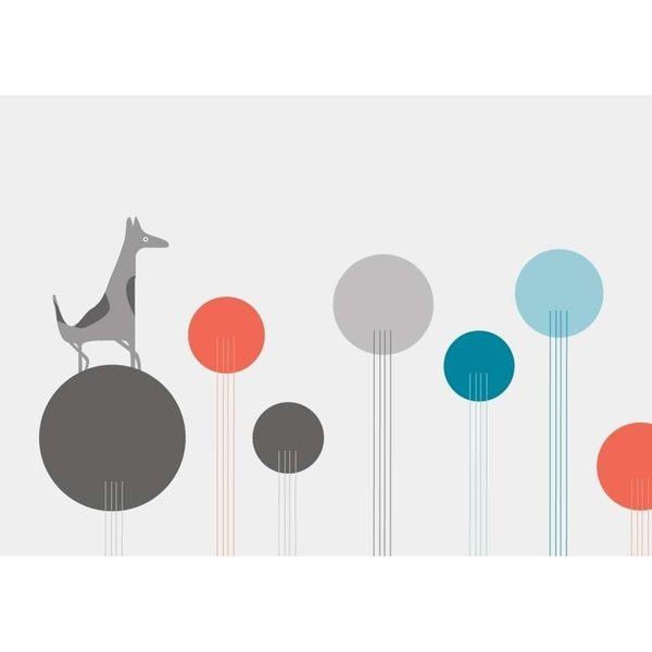 【摩達客】西班牙知名插畫家Judy Kaufmann藝術創作海報掛畫裝飾畫-會面 (附Judy本人簽名)(含木框)