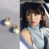 耳飾/珍珠耳釘女氣質韓國百搭網紅純銀仿珍珠耳環高級感法式巴洛克