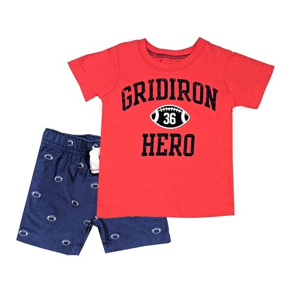 男寶寶套裝二件組 短袖T恤上衣+短褲 紅橄欖 | Carter s卡特童裝 (嬰幼兒/小孩/baby)