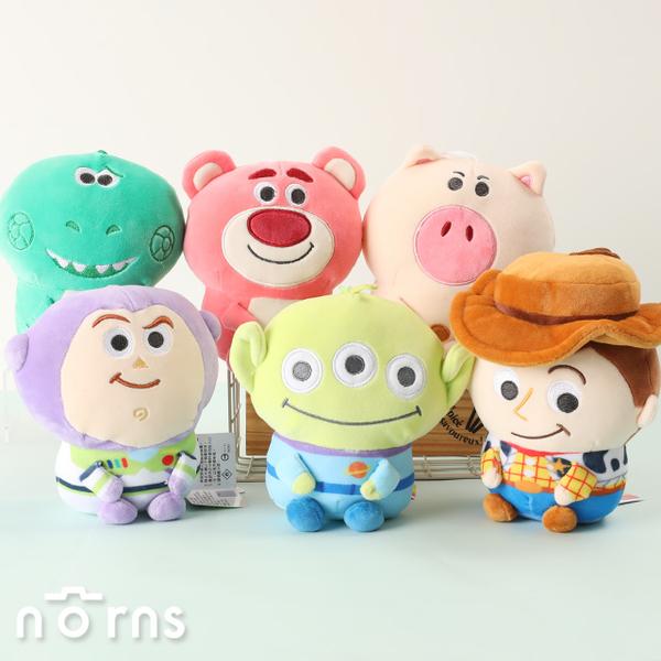 【玩具總動員4娃娃 軟QQ坐姿7吋】Norns迪士尼 正版玩偶 三眼怪 火腿豬 抱抱龍 胡迪 巴斯光年