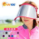 UV100 防曬 抗UV-美容面罩遮陽帽子-附贈防塵袋 運動旅遊均適合配戴