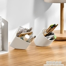創意時尚斜插式筆筒收納盒學生簡約北歐辦公室桌面ins可 極簡雜貨