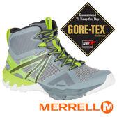 【MERRELL 美國】MQM 男GORE-TEX中筒多功能健行鞋『淺灰/亮綠』98299 機能鞋.多功能鞋