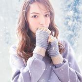 半指手套女士冬季加絨保暖韓版百搭可愛學生寫字戶外騎行露指毛線   傑克型男館