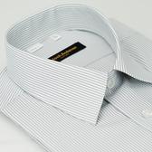 【金‧安德森】灰白條紋吸排窄版短袖襯衫