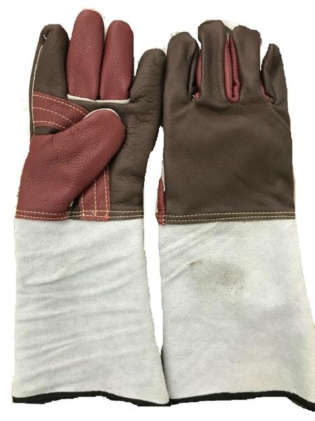 焊接五金網-焊接用手套 五指牛皮手套