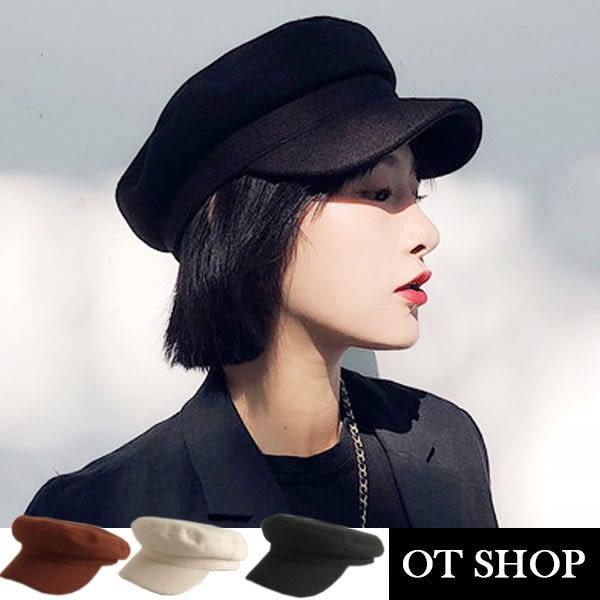 OT SHOP 帽子 八角帽 貝雷帽 畫家帽 厚呢料 超質感 平頂 穿搭配件 商品實拍實穿 現貨3色 C2039
