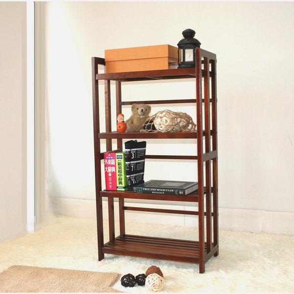 ONE HOUSE-DIY傢俱-實木四層書架/書櫃/收納架/展示架玄關櫃