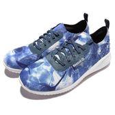 Reebok 休閒慢跑鞋 Skyscape Revolution 藍白 天空 圖騰 基本款 襪套式 懶人鞋 女鞋【PUMP306】 AR3132