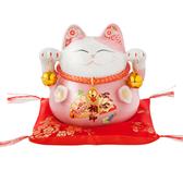 (組)六福臨門4.5吋招財貓-粉 2入