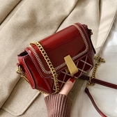 高級感法國小眾包包女新款潮網紅錬條斜背包女百搭ins側背包 歐亞時尚