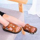 (萬聖節)涼鞋男童小孩子涼鞋小學生軟底鞋子夏季兒童露趾休閒沙灘鞋小中童鞋