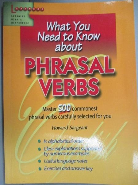 【書寶二手書T1/語言學習_IHE】Pphrasal verbs_Seaton Anne