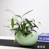 大號簡約歐式青瓷花盆家庭室內精致創意陶瓷綠植物盆栽 ZJ1432 【雅居屋】