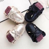 豆豆鞋女百搭孕婦社會鞋子一腳蹬chic單鞋女平底   居家物語
