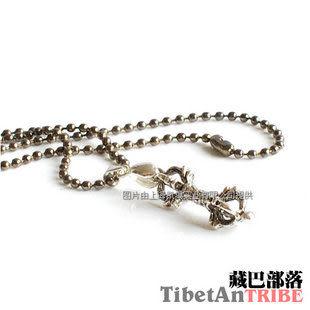 金剛杵藏銀項鏈