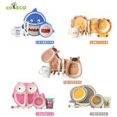 兒童竹纖維套裝餐具五件組 ◆86小舖 ◆ 餐盤/杯子