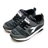 LIKA夢 DIADORA 迪亞多那 19cm-23cm 輕量4E寬楦慢跑鞋 歡樂寶貝系列 灰黑 7900 中童