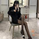 蕾絲字母打底絲襪女性感薄款連腳襪日系襪子【橘社小鎮】