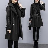 大尺碼斗篷 特大碼加絨加厚皮衣 女冬季大衣皮毛一體時尚顯瘦保暖外套L-5XL
