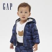 Gap嬰兒 Gap x Disney 迪士尼系列系列連帽羽絨外套 592874-藍色