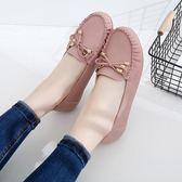 單鞋平底百搭休閒鞋淺口牛筋底女鞋一腳蹬豆豆鞋 爾碩數位3c