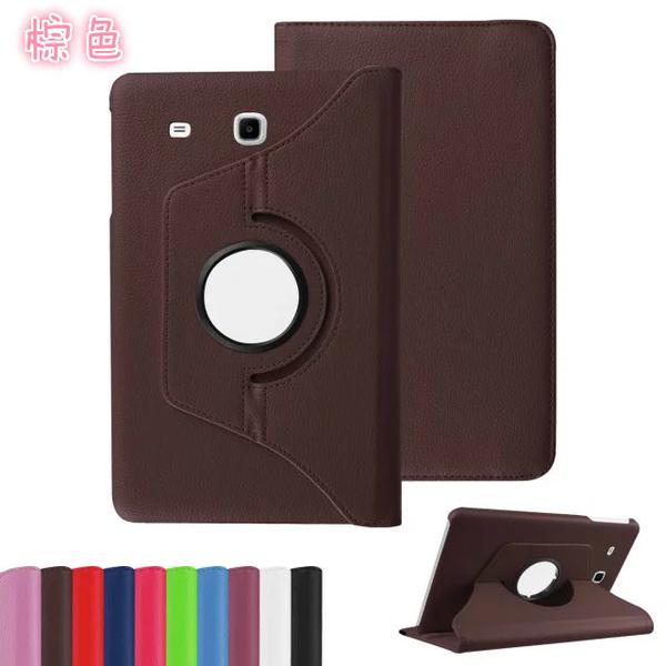 【萌萌噠】三星 Galaxy Tab S3 (9.7吋) 旋轉360度保護套 皮紋側翻皮套 多層支架 鬆緊帶 平板套 保護殼