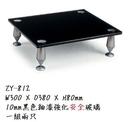 展藝 Zhanyi ZY-812 高級玻璃喇叭架/外型美觀黑釉漆強化玻璃鋁合金喇叭架