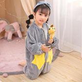 秋冬季嬰兒童法蘭絨睡袋寶寶加絨加厚連體睡衣男孩防踢珊瑚絨女童 任選一件享八折