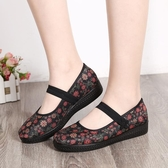 老北京布鞋老人平底女鞋軟底加肥加寬透氣網鞋中老年大碼奶奶鞋 『居享優品』