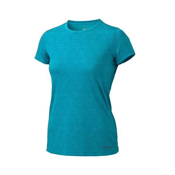 [Marmot] Cascade (女) 防曬排汗短袖上衣 海綠 (M65830-8501)