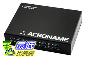 [9美國直購] Acroname Programmable Industrial USB 3.0 hub, 9 Port, 2 Host, 15kV ESD, Software Control