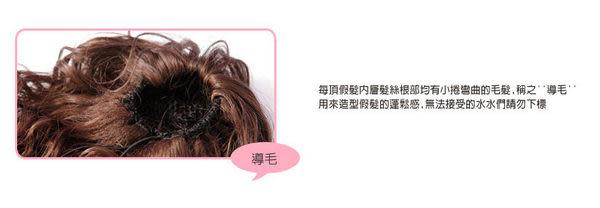 Qmishop 可愛梨花性感大捲頭 齊瀏海中長捲髮全頂假髮 【QF037】