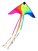 百特風箏長尾七彩鳳凰彩虹風箏線輪成人易飛微風色彩絢麗飄逸好飛 喵小姐