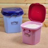 米桶 加厚塑料米桶50斤米缸帶蓋糧食儲物箱LJ7997『miss洛羽』