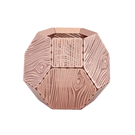 英國 Tom Dixon Etch Candleholder Wood Pattern 蝕刻 木紋 金磚燭台(紅銅色)