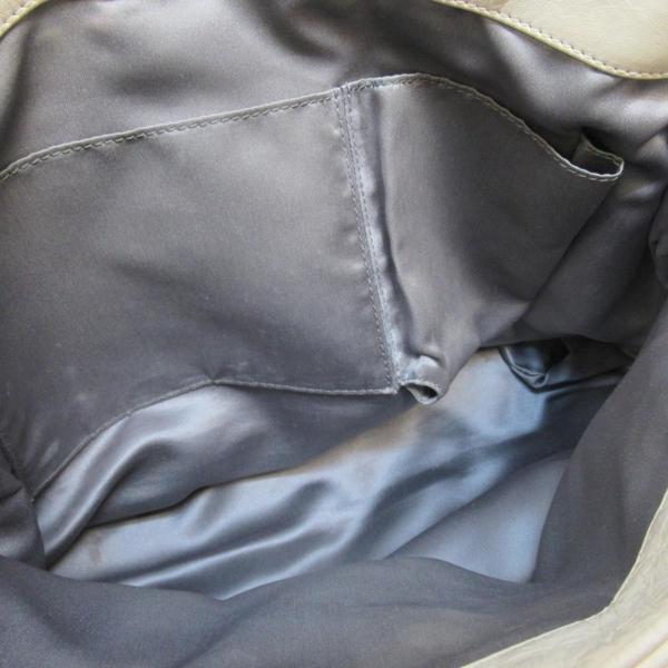 CHANEL 香奈兒 菱格紋牛皮銀色鈕扣手提肩背兩用包 Mademoiselle Accordion BRAND OFF