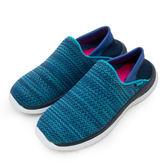 LIKA夢 LOTTO 後踩輕量飛織健走鞋 EASY WEAR 系列 藍 6006 女
