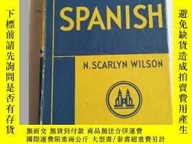 二手書博民逛書店英文原版·精裝:TEACH罕見YOURSELF SPANISH